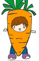 Louis the Carrot by angelelogs