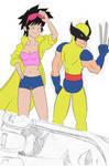 WIP: X-Men- Jubilee and Wolverine