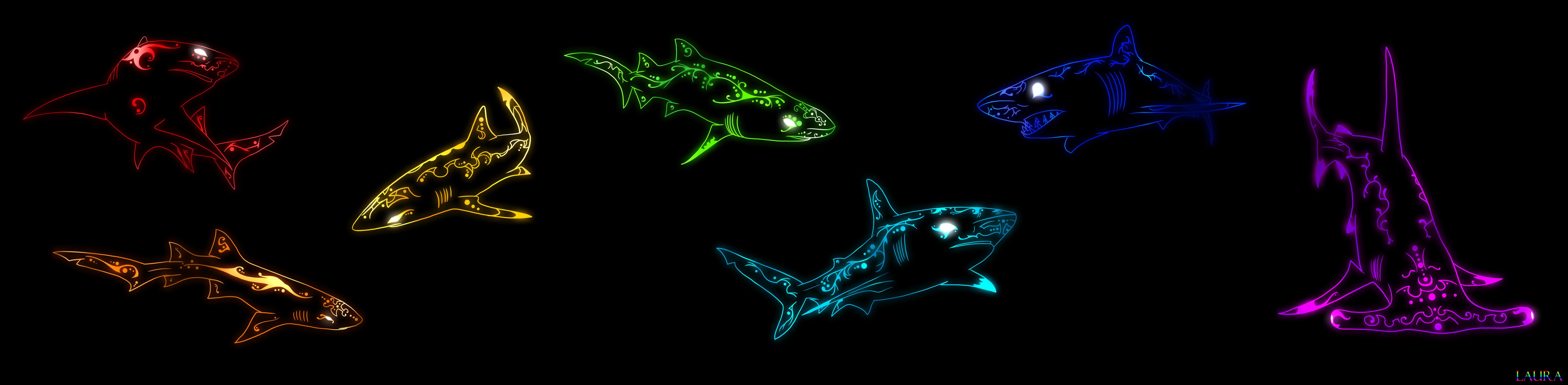 color sharks by zavraan on deviantart