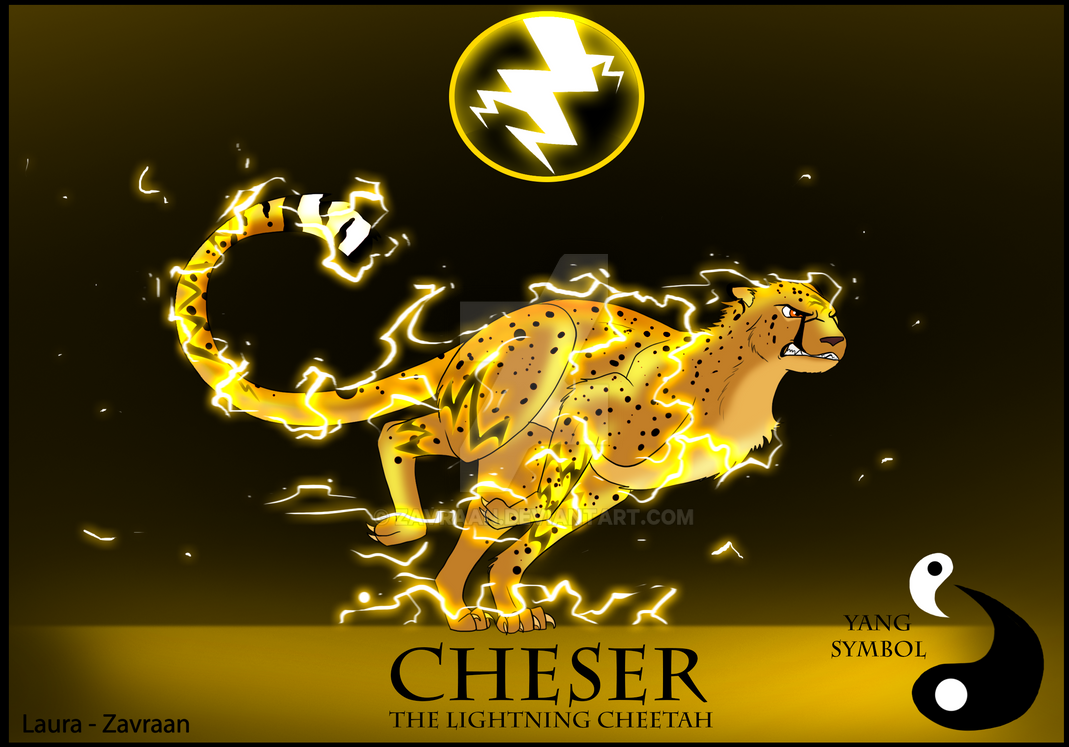 cheser the lightning cheetah by zavraan on deviantart