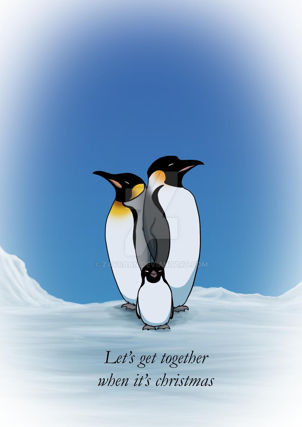 christmas card penguins by zavraan on deviantart