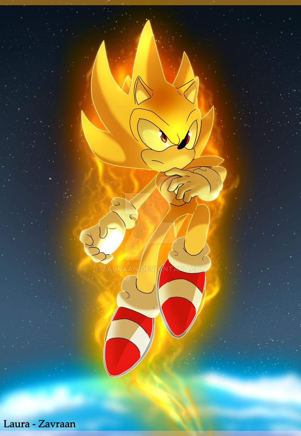 Super Sonic By Zavraan On Deviantart
