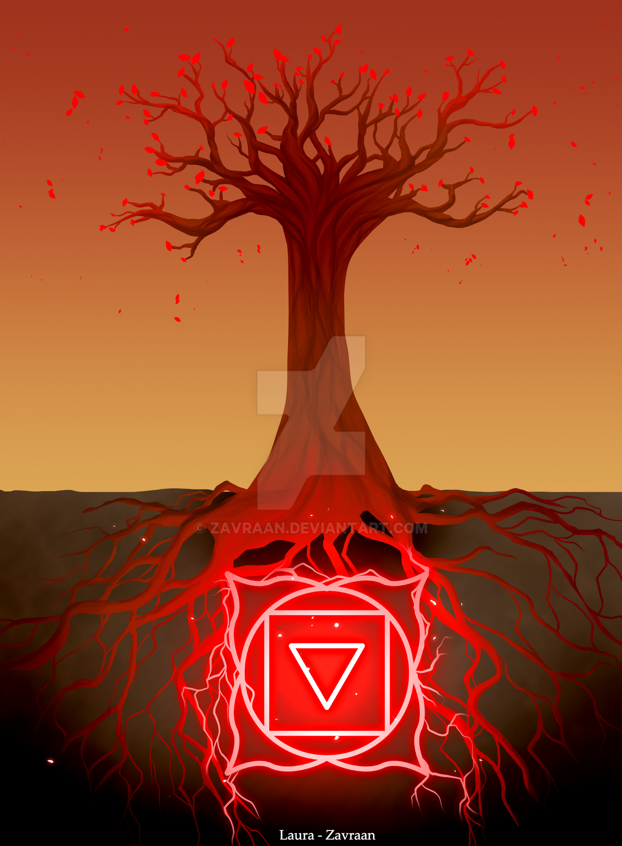 Muladhara tree by zavraan on DeviantArt