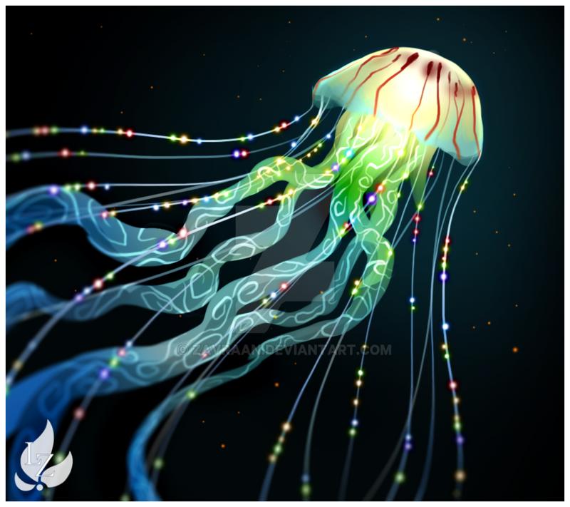 Deep Sea Jellyfish By Zavraan