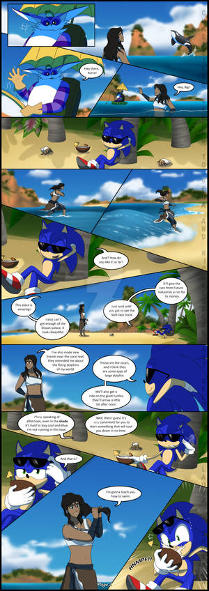 Sonic and Korra - Swimming lessons Page 2
