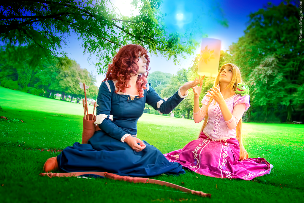 Merida and Rapunzel. by ChiakiMori