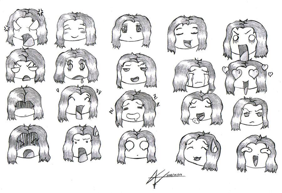 Chibi Expressions I by JudasiChibi Expressions