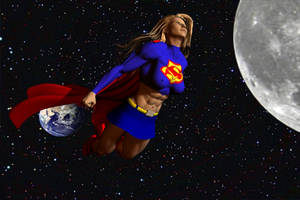 Supergirl in space by plinius
