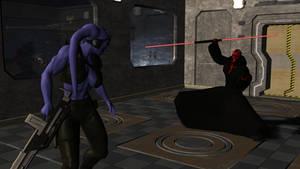 Twi'lek vs Darth Maul