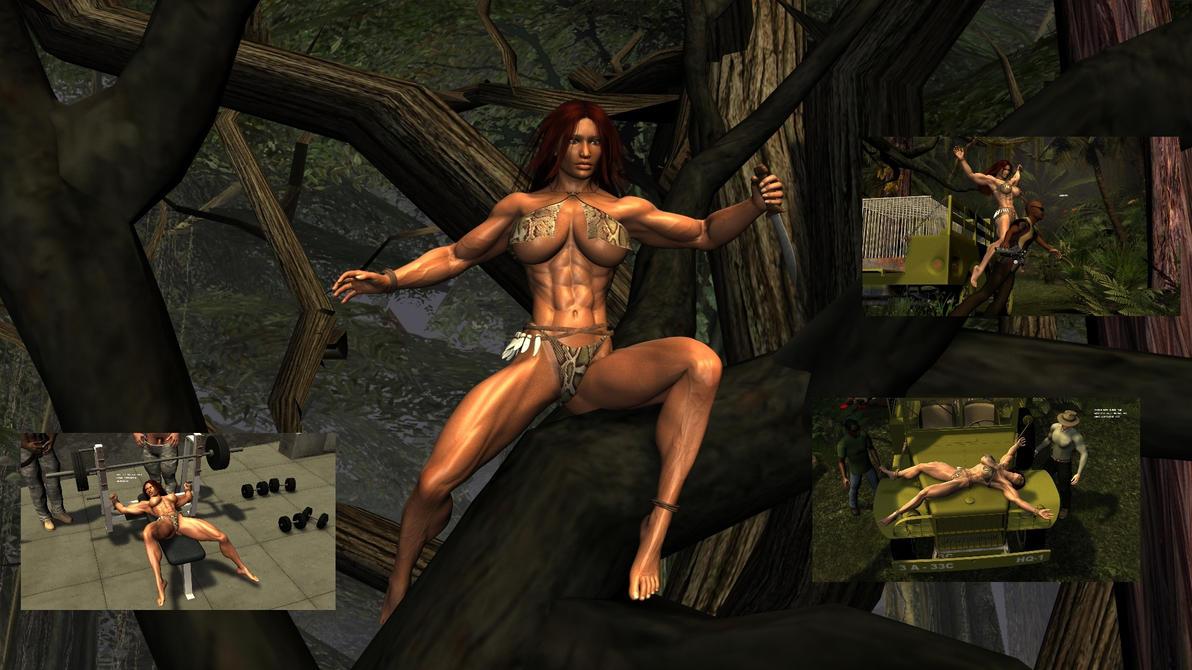 Naked jungle girl captured naked pic