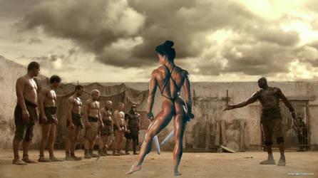 Spartacus: Amazon Fight