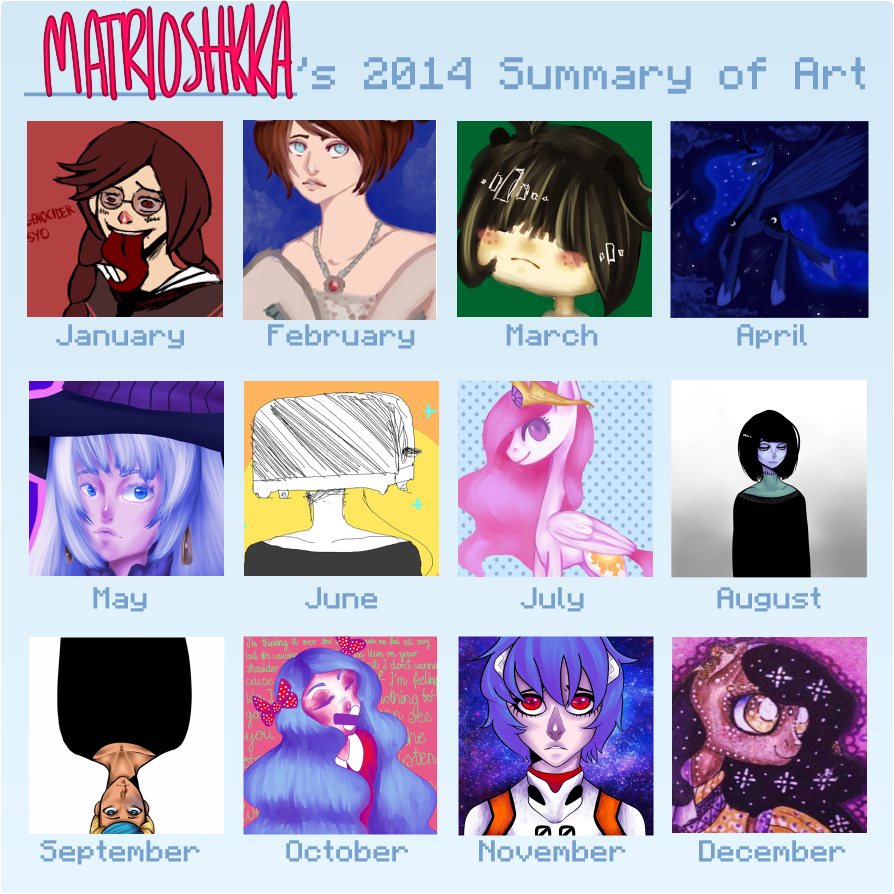 Art Summary 2014 by matrioshkka