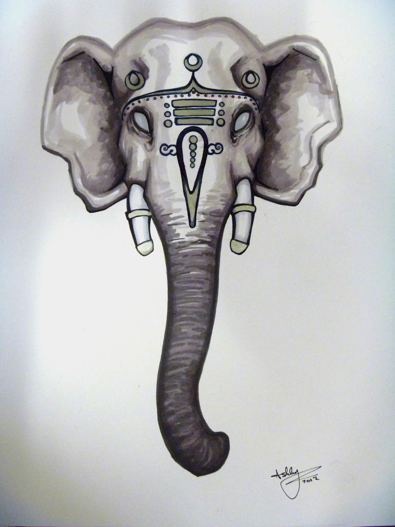 Indian Elephant Art Wa...