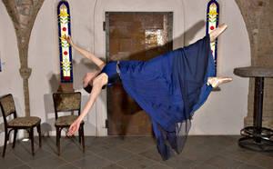 Flug einer Ballerina