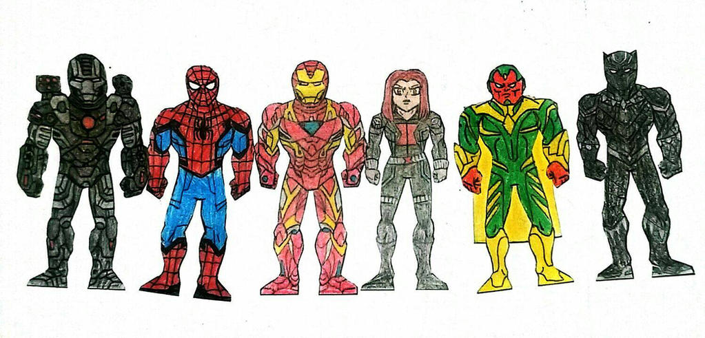 Team Iron Man (MCU) by zetamagnus103