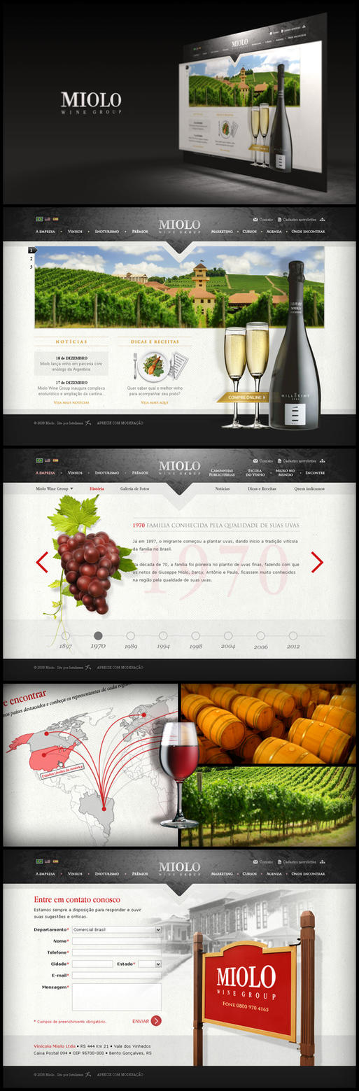 Miolo Wine Group Website by Pedrolifero