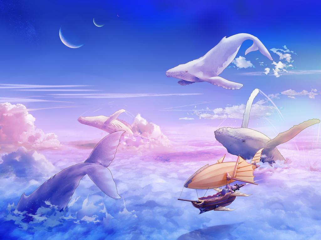 School of Flying Whale by pomekun