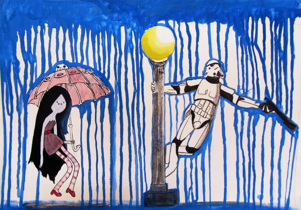 Marceline and the Trooper by NatanaelBram