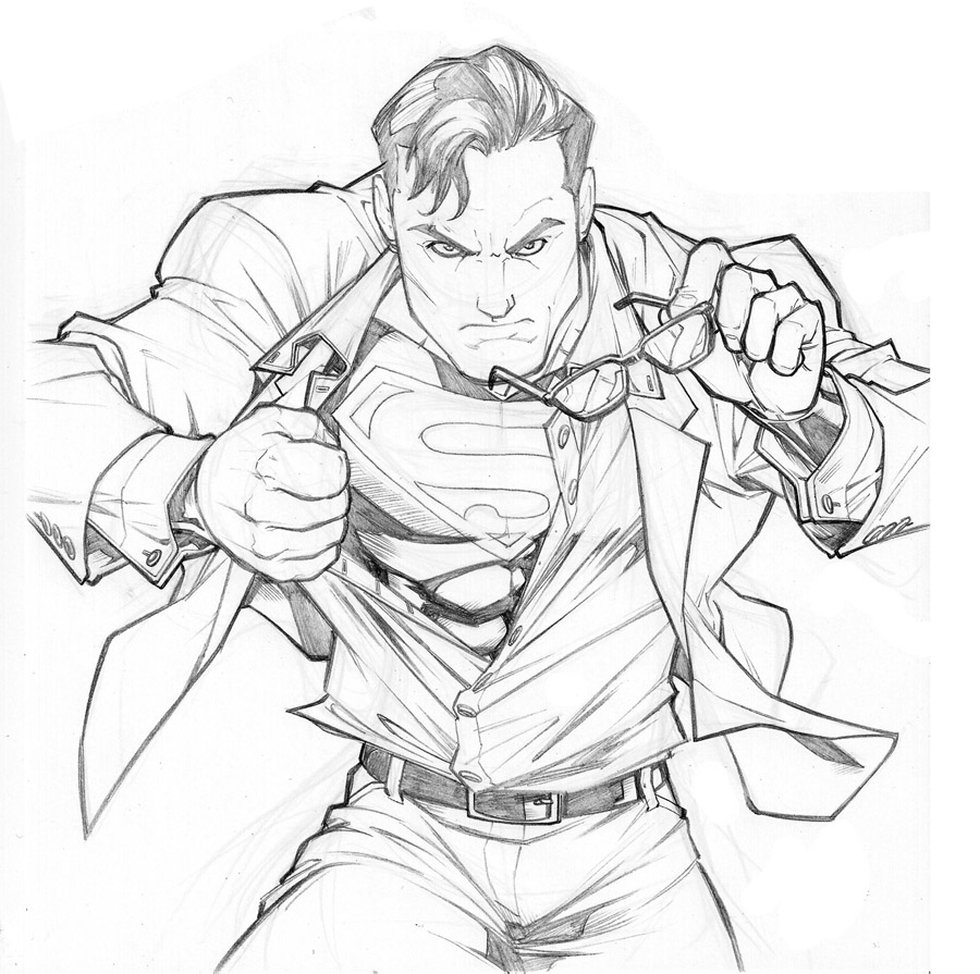 old Superman sketch by CarlosGomezArtist