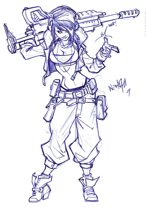 another Pilot sketch by CarlosGomezArtist