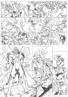 Hawkeye Dr Strange page by CarlosGomezArtist