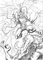 Thor VS demon by CarlosGomezArtist