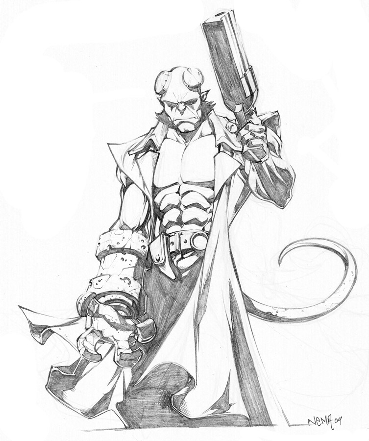 Hellboy Coloring Pages
