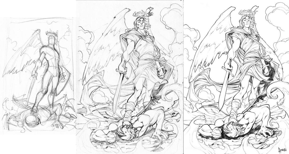 Commission Archangel Michael by CarlosGomezArtist
