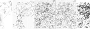 Hellboy VS Cloak Commish by CarlosGomezArtist