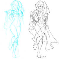Emma Frost sketch commish by CarlosGomezArtist