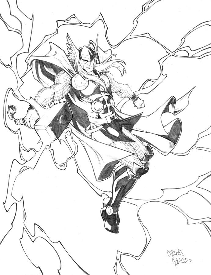 Thor sketch commission by CarlosGomezArtist