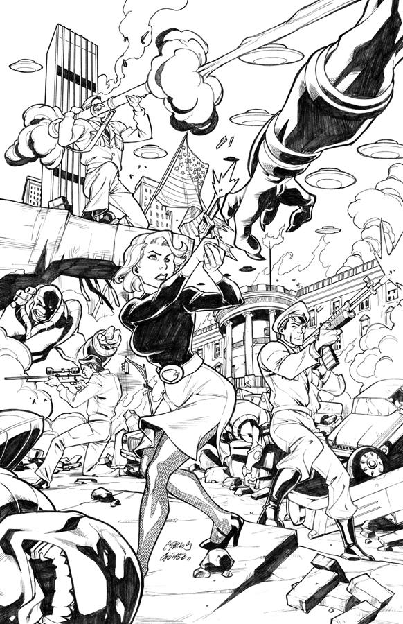 Suicide squad commission by carlosgomezartist on deviantart for Suicide squad coloring pages