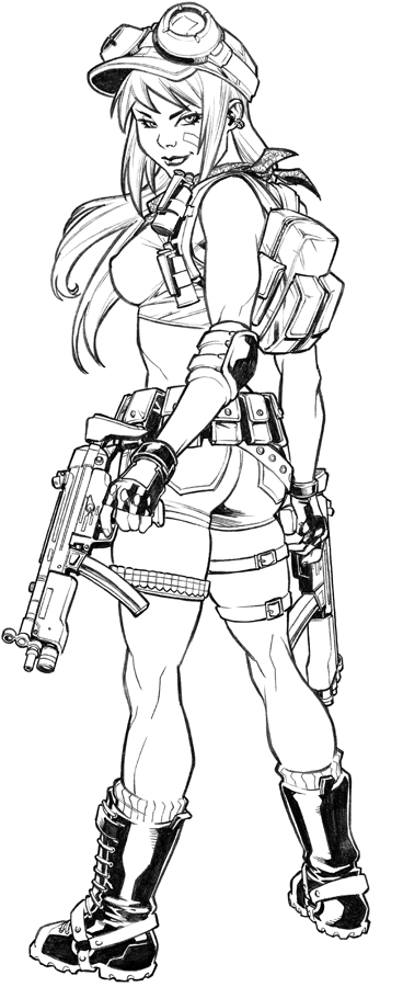 Military chick commission by CarlosGomezArtist