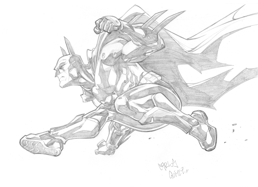 Batman sketch commission by CarlosGomezArtist