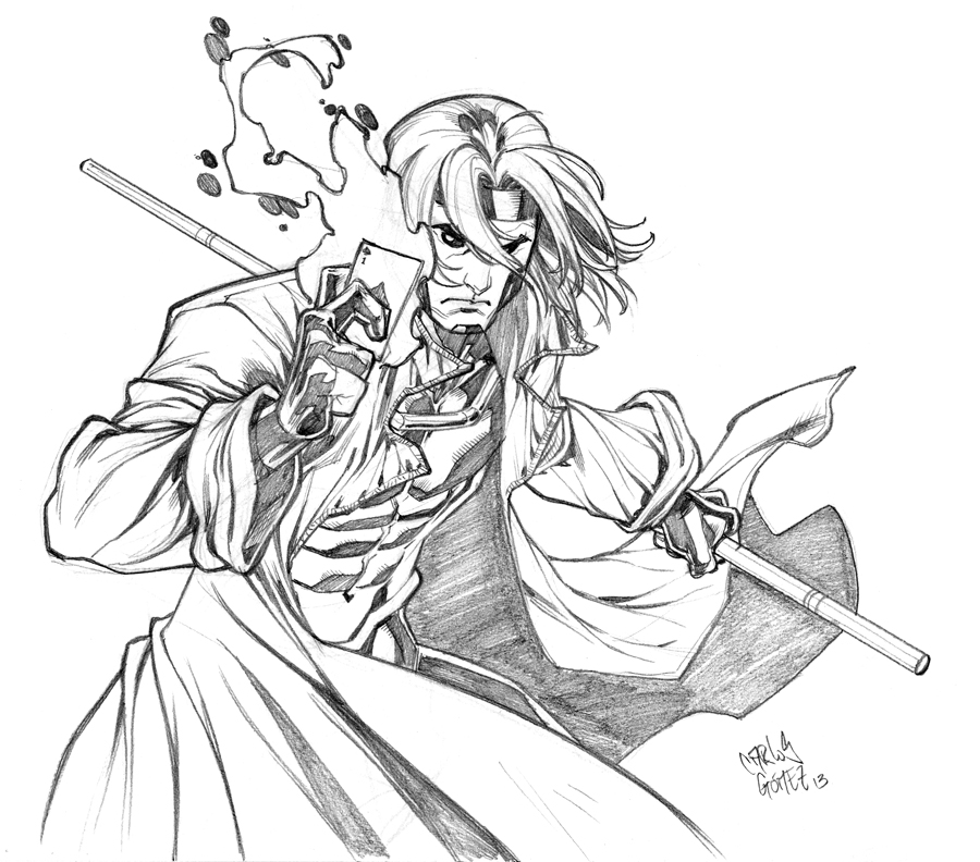 Gambit sketch commission