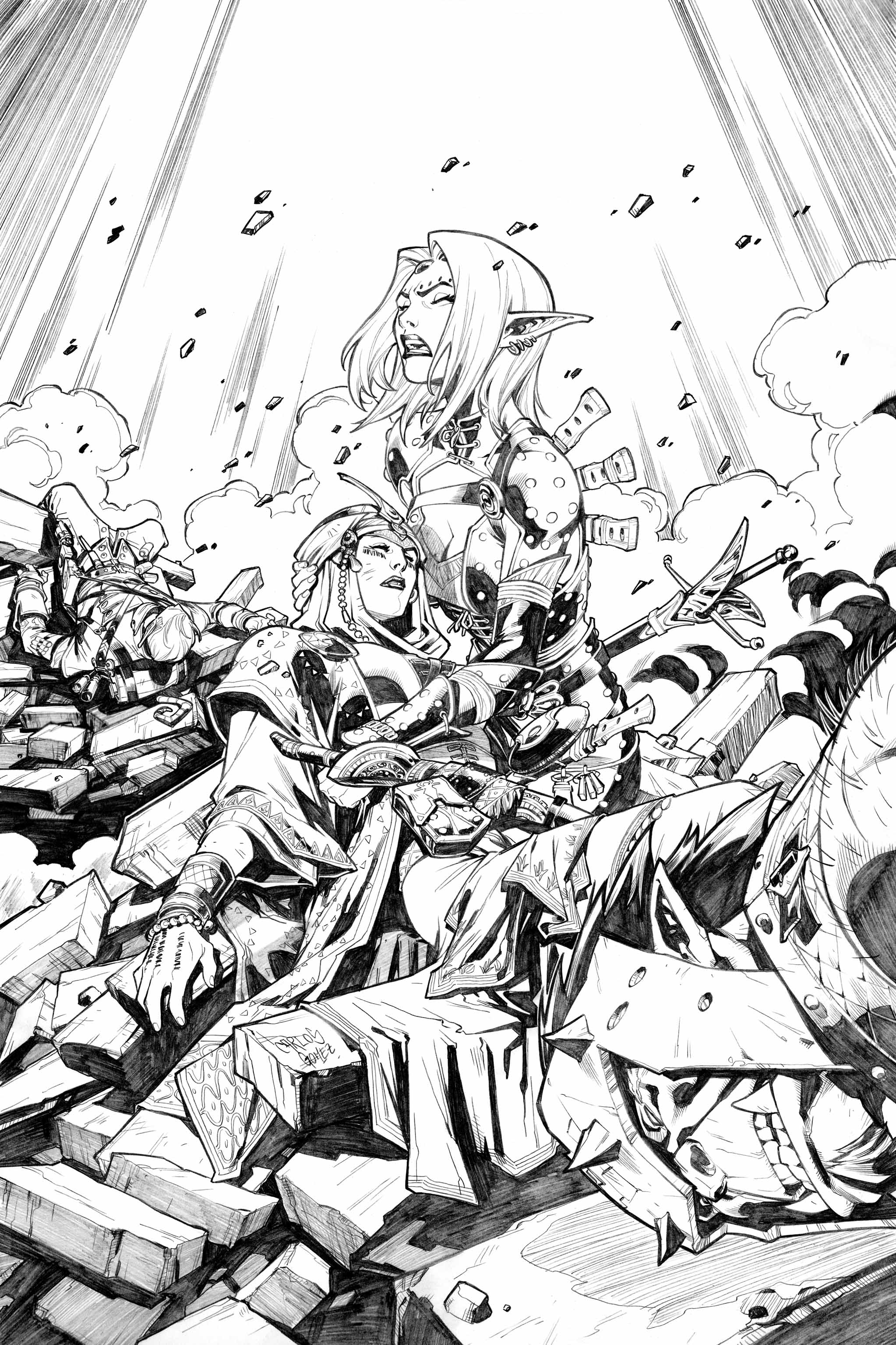 PATHFINDER: HOLLOW MOUNTAIN #3 COVER by CarlosGomezArtist
