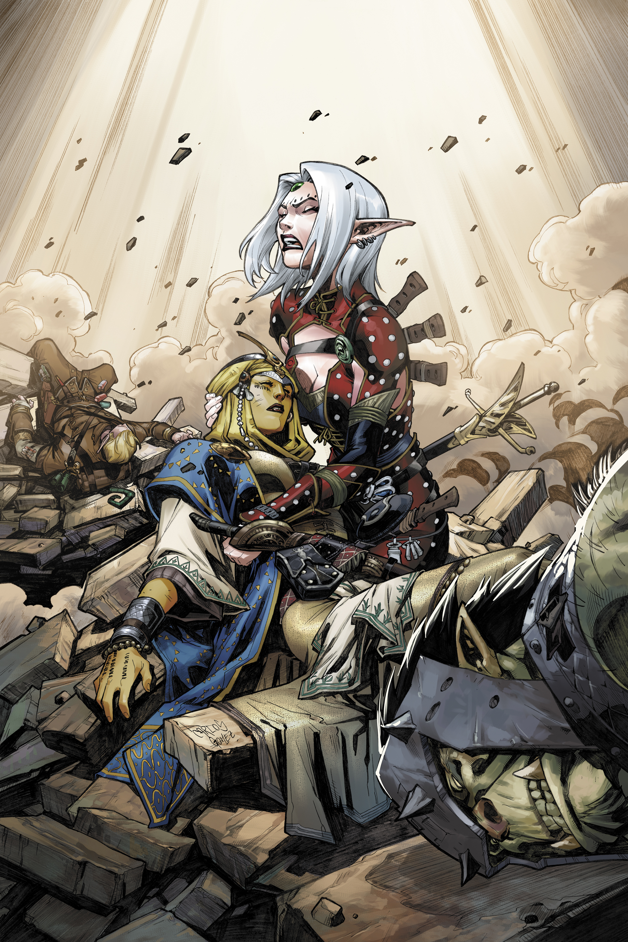 PATHFINDER: HOLLOW MOUNTAIN #3 COVER color by CarlosGomezArtist