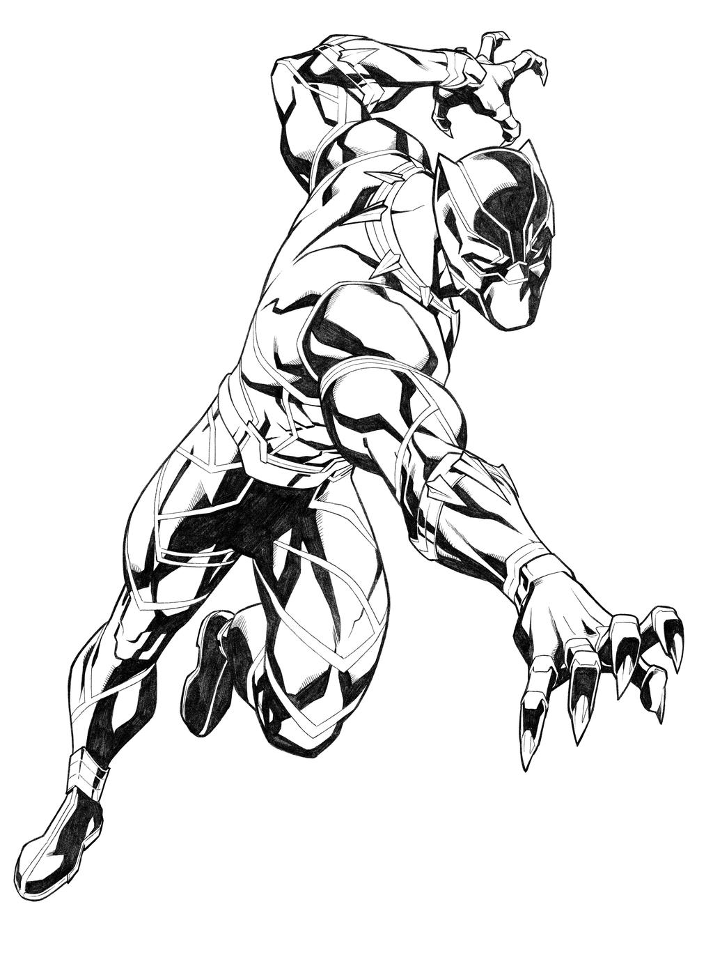 black panther superhero coloring pages - photo#21