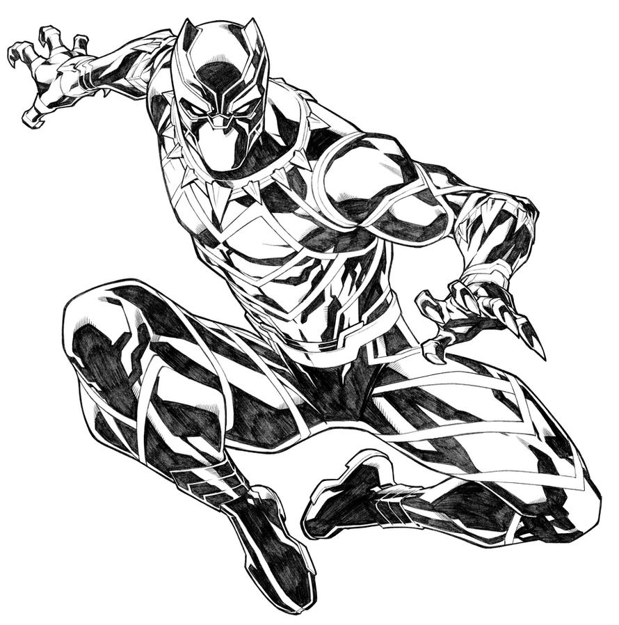 black panther superhero coloring pages - photo#33