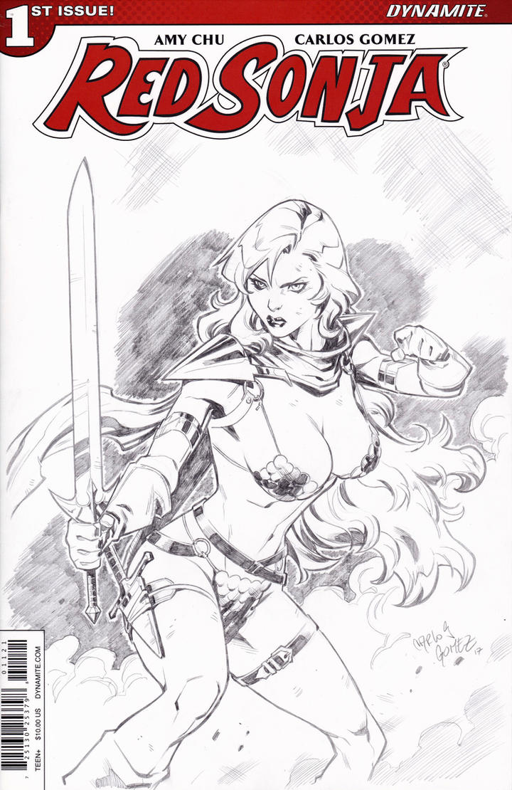 RED SONJA - SPEED DRAWING! (Blank Cover) by CarlosGomezArtist