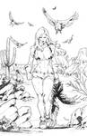 RED SONJA - Hunting vultures- Full page
