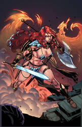 RED SONJA - Cover - color