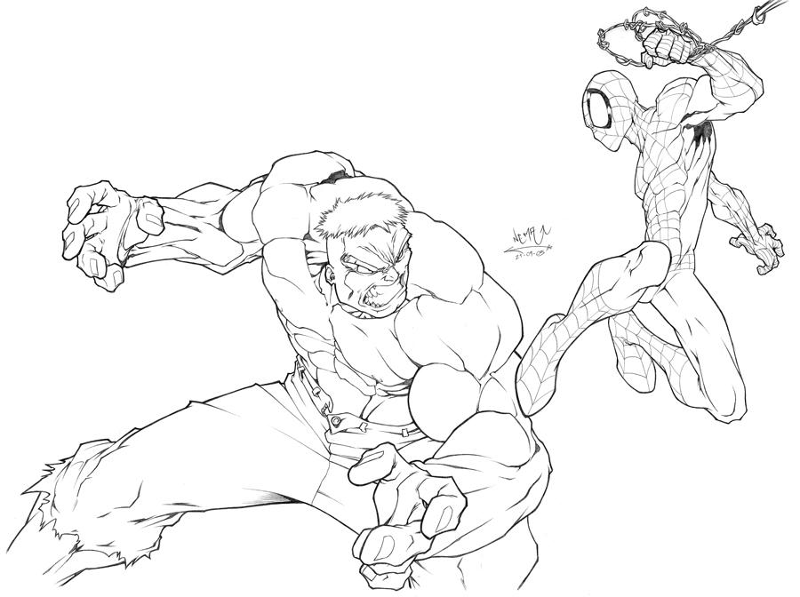 spider hulk coloring pages - photo#14