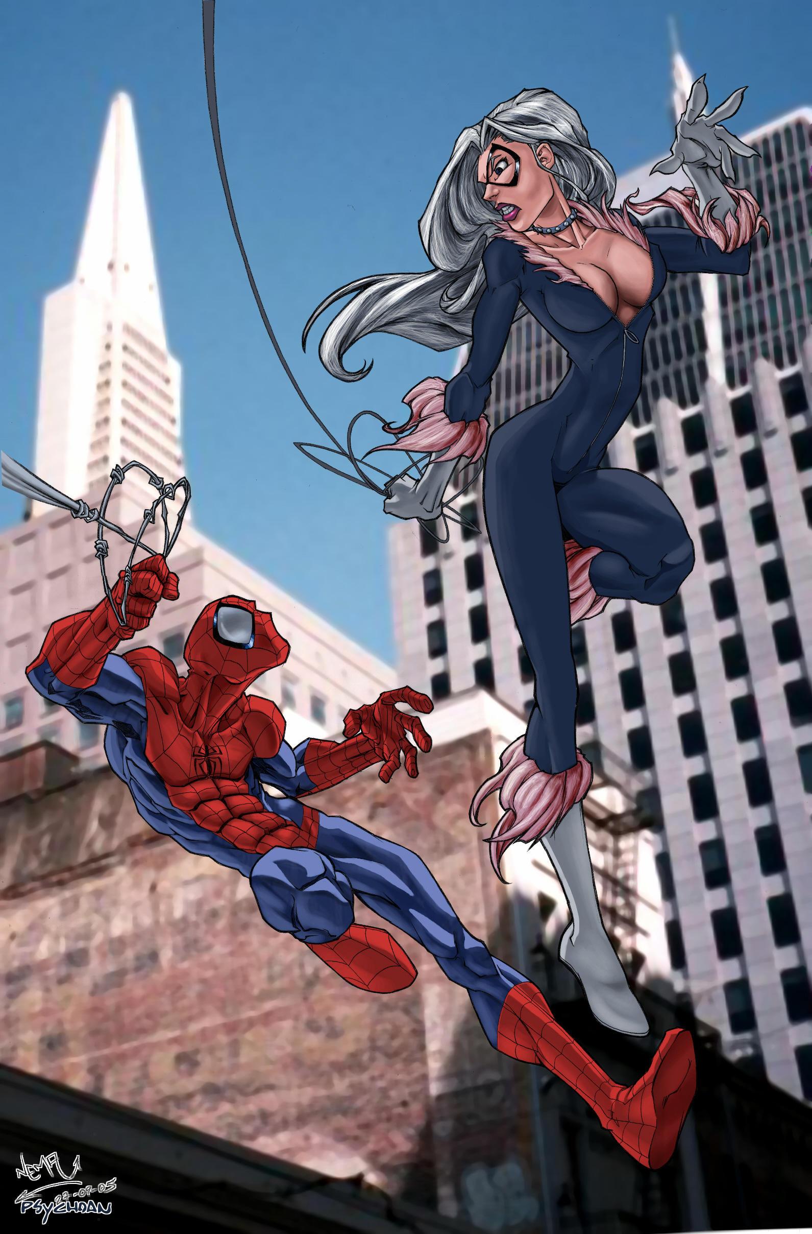 Amazing SpiderMan and Black Cat  Porn Comics