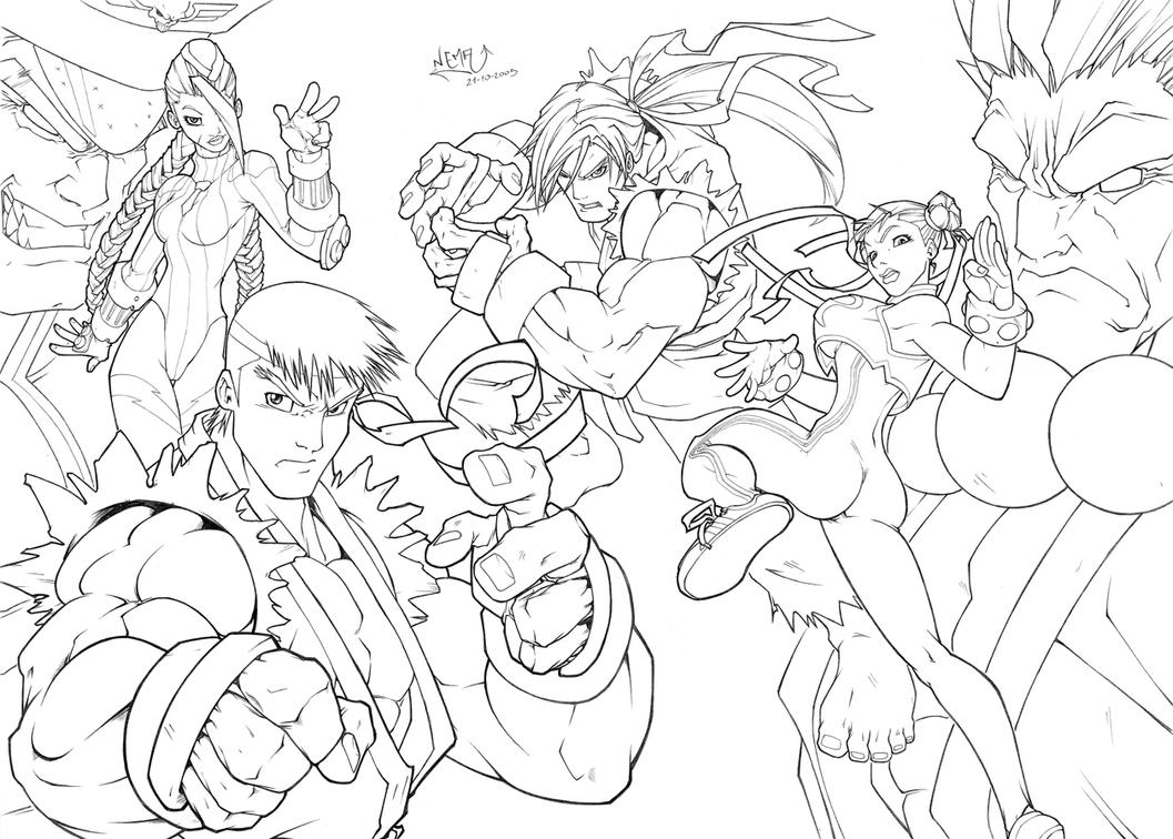 street fighter coloring pages - photo#4