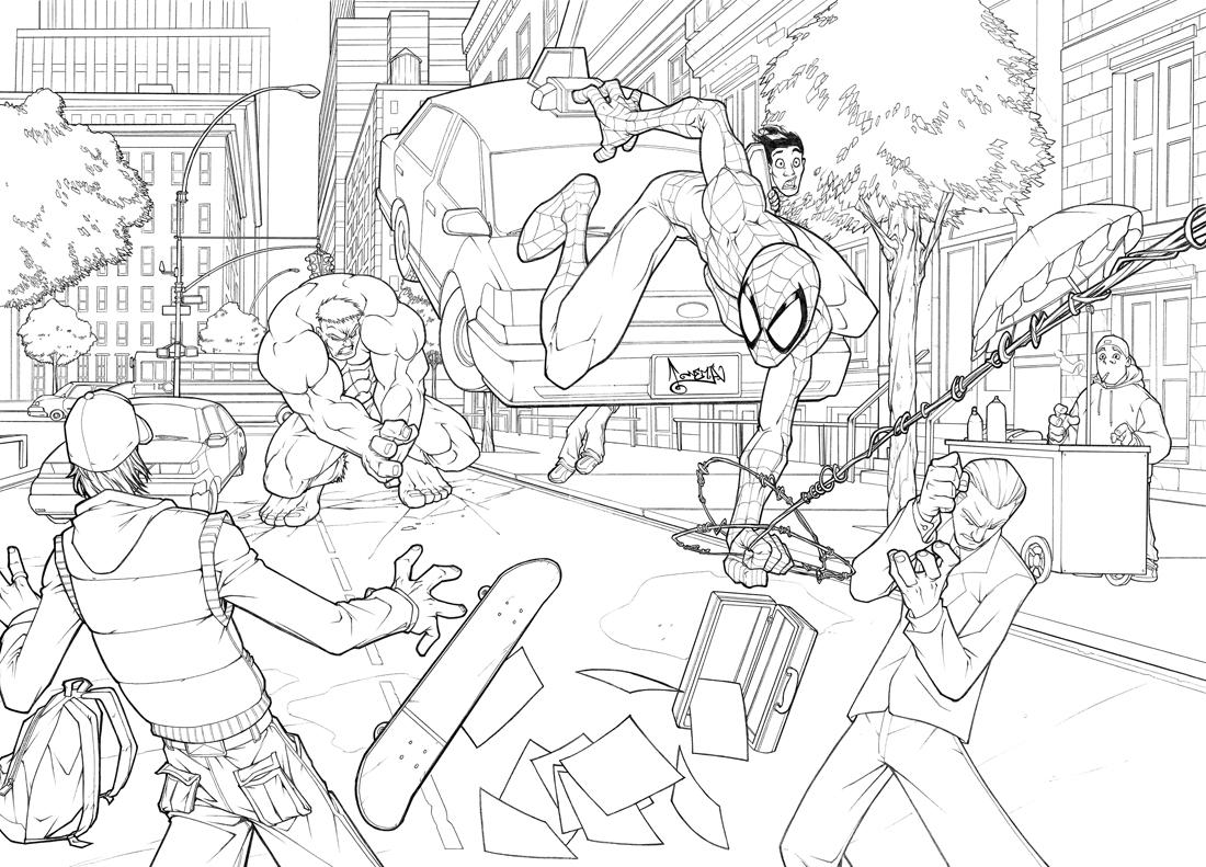 spider hulk coloring pages - photo#1
