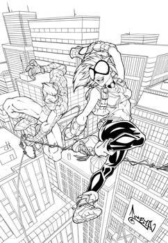 Arana and Spiderman