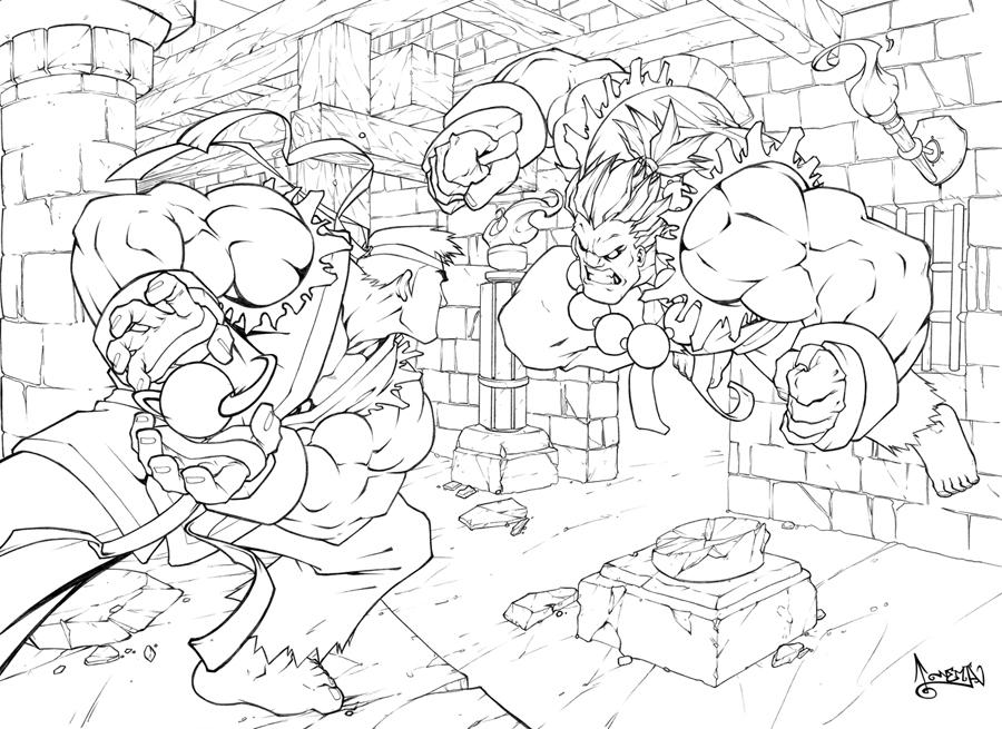 street fighter coloring pages - photo#23