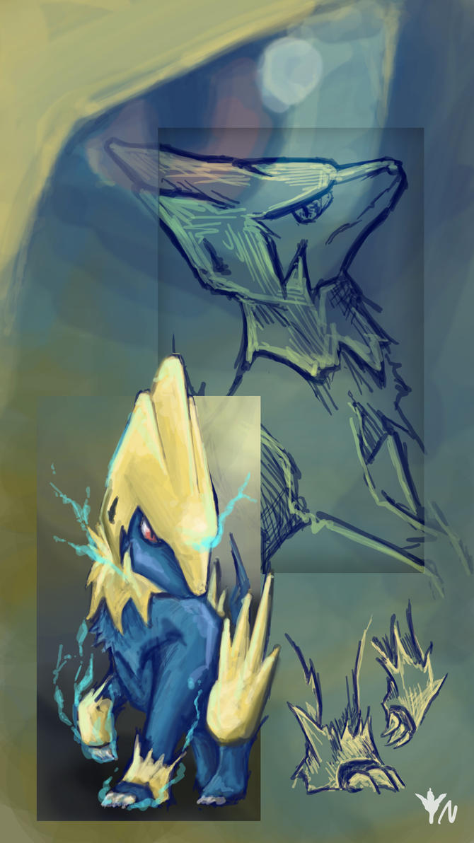 Manectric Study by Noktowl