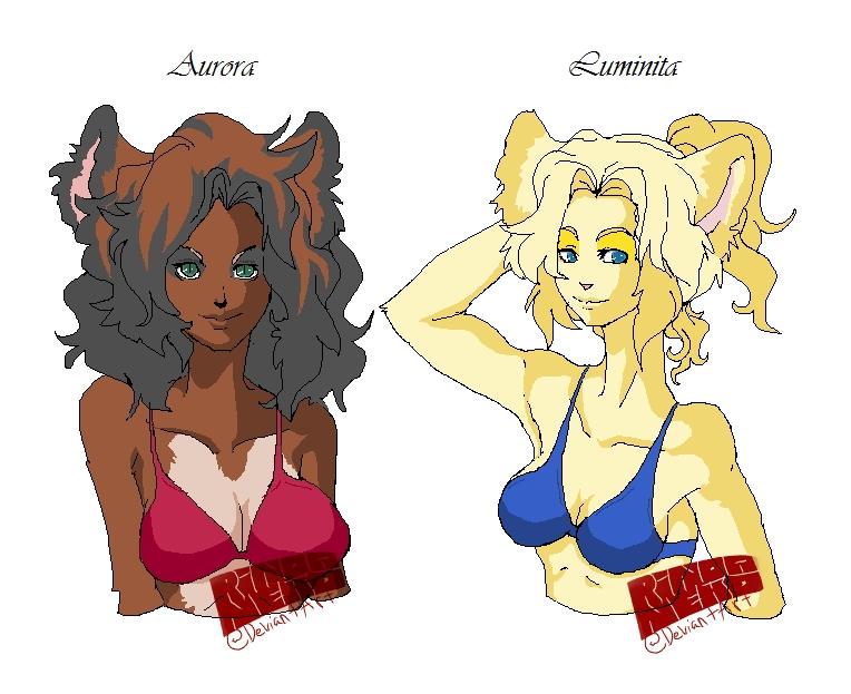 Aurora and Luminita by rinoaneko